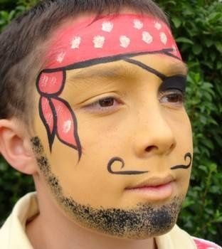 pirate face painting - NJHS booth at Carnival