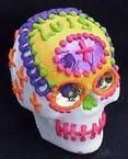 Decorated Candy Skull Used with Permission by the Reign Trading Company