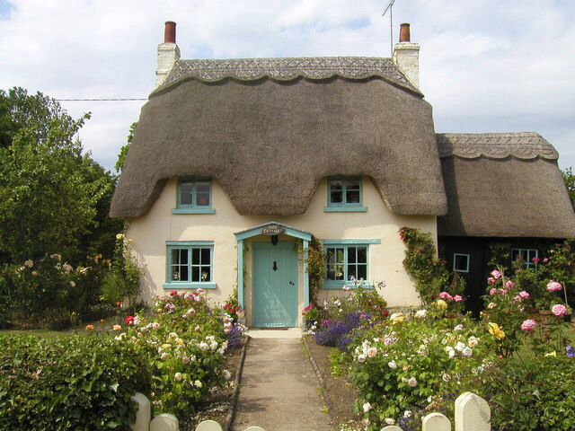 A tiny thatched cottage