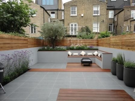 Would like more planting but like timber and grey colour scheme