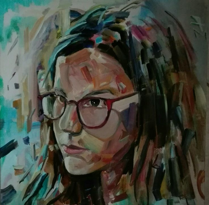 """Maria"" oil on canvas by tasos bousdoukos"