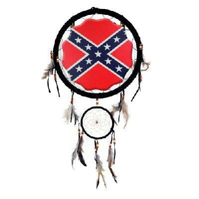 Rebel flag dream catcher,  I would put this in my truck