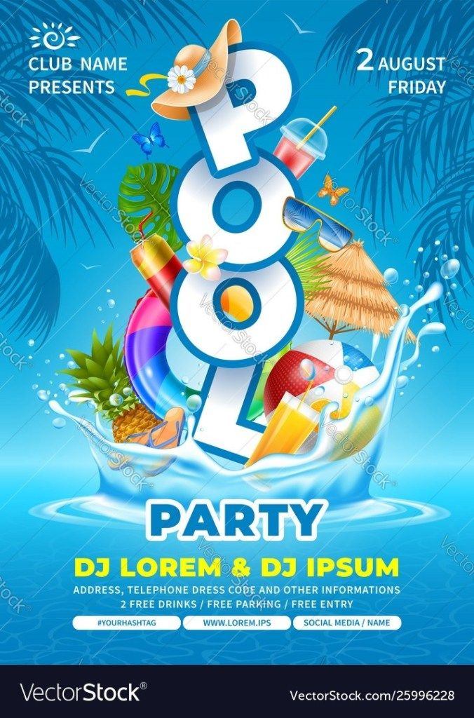 Pool Party Poster Template Party Poster Pool Parties Flyer Pool Party