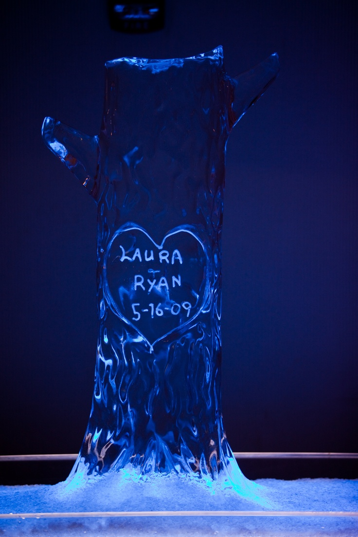 Frozen Tree Ice Sculpture for the wedding reception!