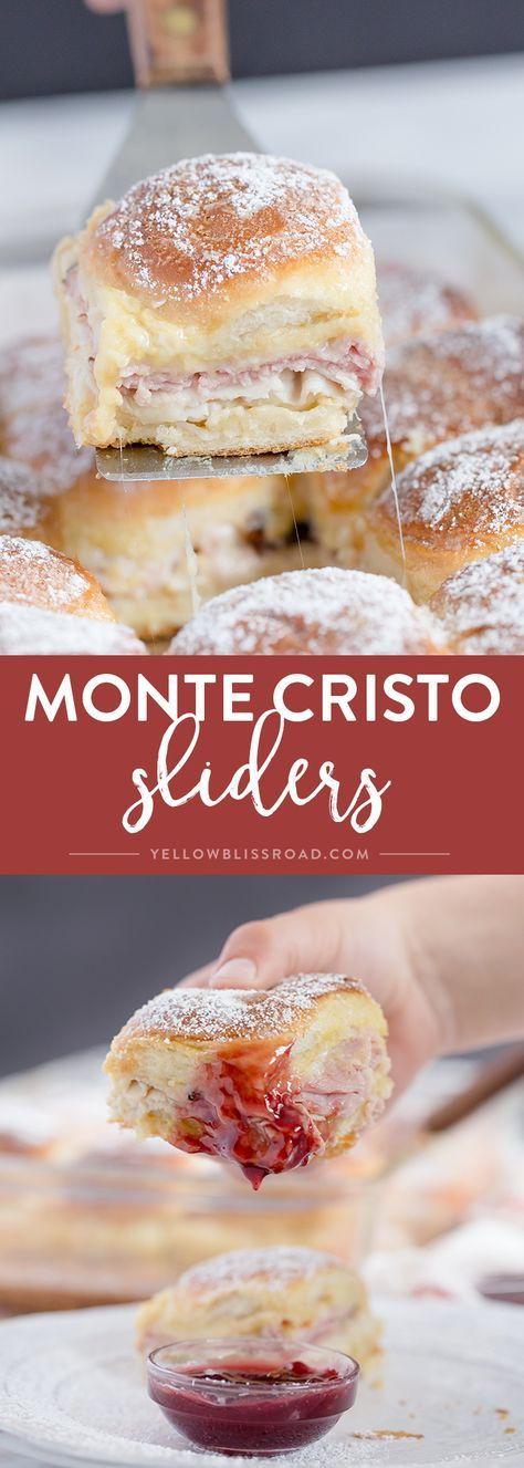 """Monte Cristo Sliders ~ the classic sandwich in """"mini"""" form...perfect for parties, or just when you want something fun, delicious, and a little bit different!"""