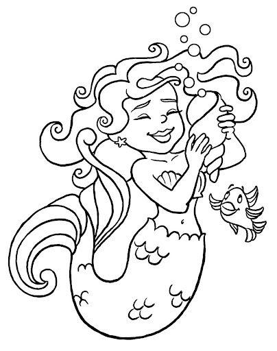 30 desenhos de sereias iara para colorir - Mais de 500 atividades no Projeto Folclore! ~ ESPAÇO EDUCAR