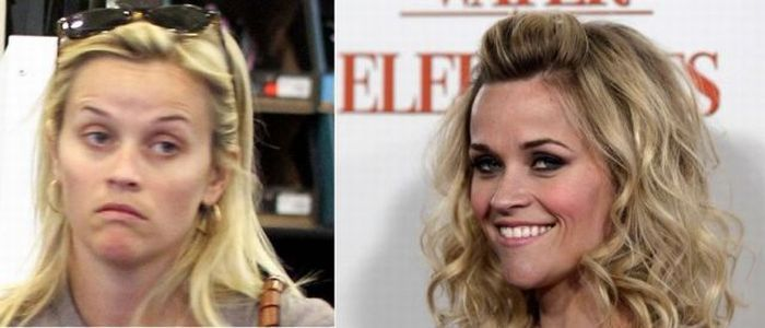 celebs without makeup before and after | Celebrities Before and After Makeup (51… –