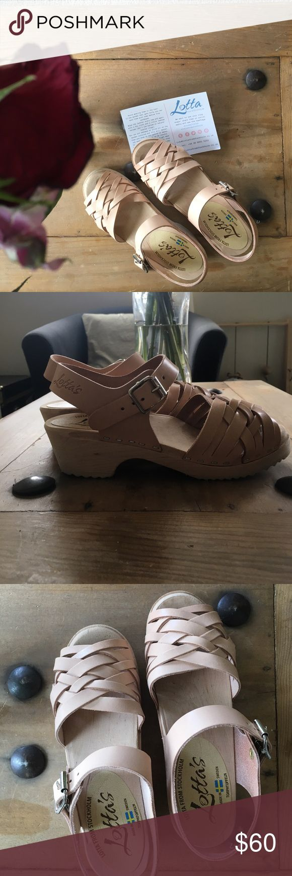 Lotta from Stockholm low heel clog sandals Brand new! Color is 'natural'. Beautiful woven sandals on a classic clog sole. Price if pretty firm because of the Poshmark deduction. Let me know if you have any questions. Lotta from Stockholm Shoes Mules & Clogs