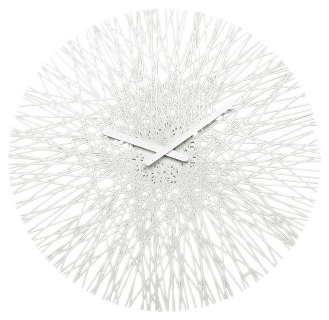 Zegar ścienny SILK, okrągły - kolor biały, KOZIOL. 45 cm