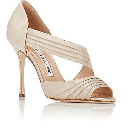 Manolo Blahnik Treuil Asymmetric-Strap Sandals - Pump - Barneys.com