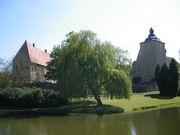 Blick über die Gräfte zum Schloss Steinfurt