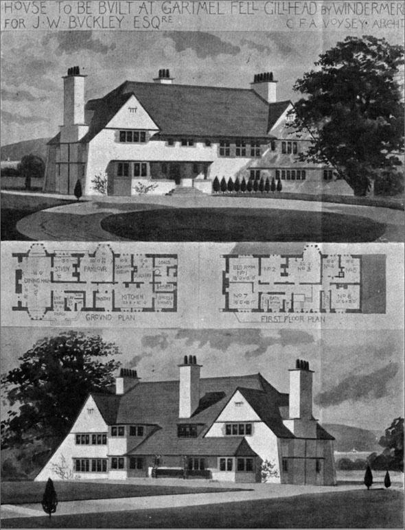 1898 – Cartmel Fell, Windermere, Cumbria    Architect: C.F.A. Voysey