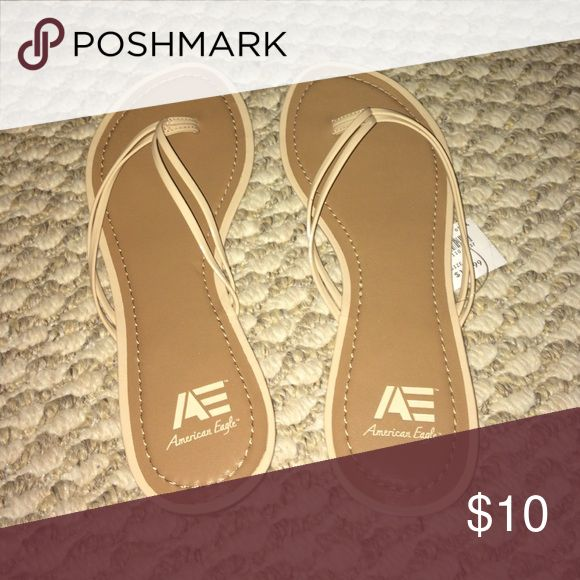 Nude flip flops Nude flip flops never worn. NWT. American Eagle by Payless Shoes Sandals