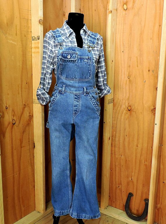 45d64ce3b38 80s womens Overalls XS   Silver Jeans Canada   distressed vintage high  waisted overalls   retro grunge over all jeans