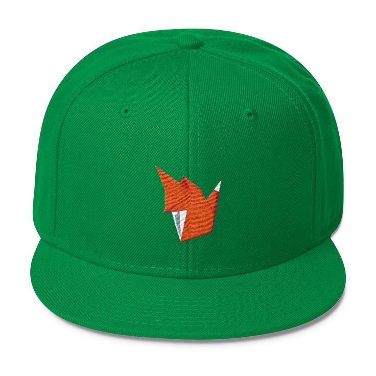 Les Faux Fox Wool Blend Snapback