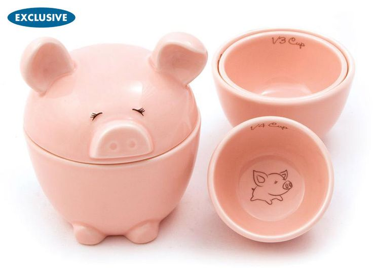 This Lil' Piggy Measuring Cups by Del Rey
