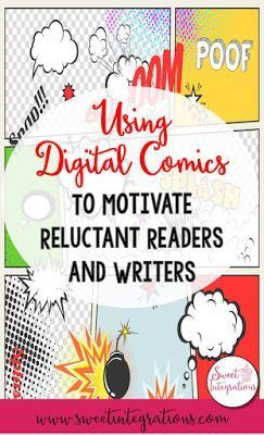 Using digital comics infused into your reading or writing curriculum is a great way to motivate your reluctant learners. The different online apps & websites listed here are great resources for your 2nd, 3rd, 4th, 5th, & 6th grade classroom or home school students. It's a great way to bring technology into students' day. Science, social studies, & various ELA topics can all be covered depending on which technology component you use. {second, third, fourth, fifth, sixth graders, upper…