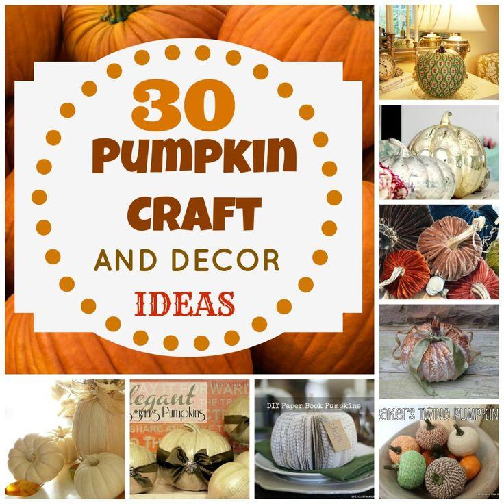 30 Pumpkin Crafts/Decor ideas!