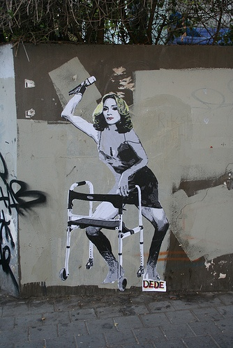 Same old Madonna by dede http://restreet.altervista.org/la-street-art-dell-israeliano-dede/