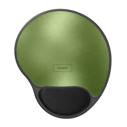Trendy Modern Shiny Green Abstract Background Gel Mouse Pad - trendy gifts cool gift ideas customize