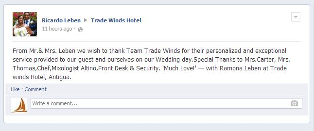 Congrats Mr. & Mrs. Leben it was indeed an honour hosting your wedding.Guest Reviews, Guest Comments