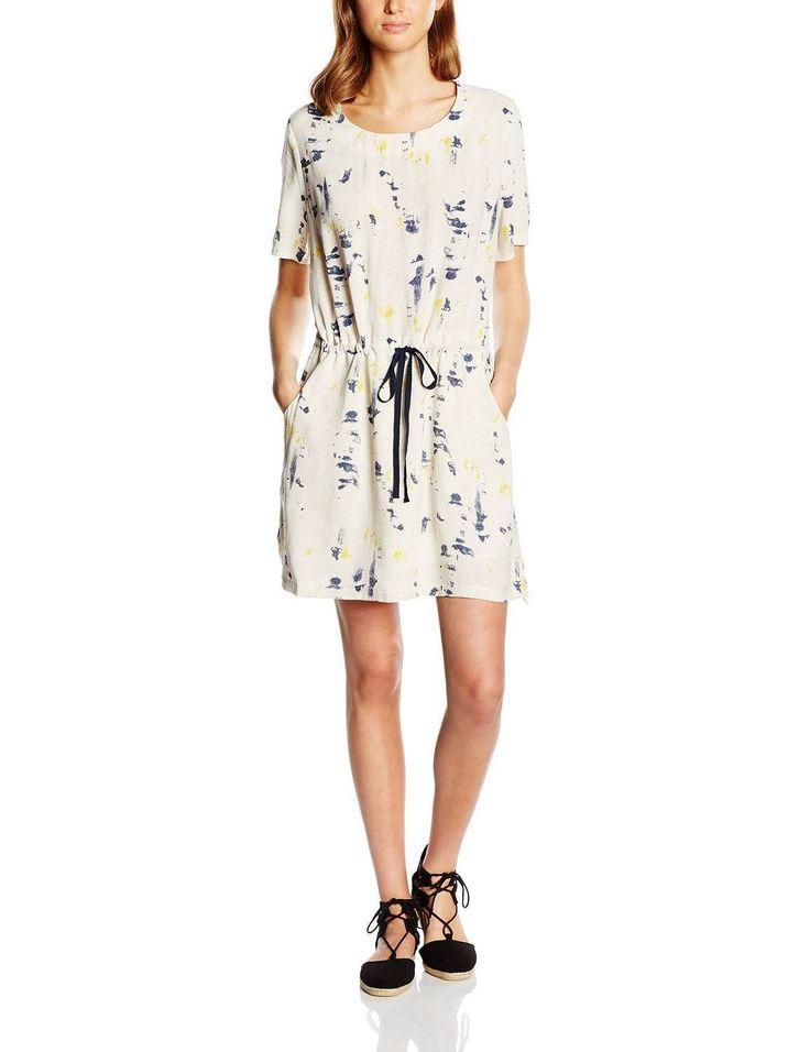 Vestido moda hipster para mujer manga corta con diseño estampado print multicolor, ideal para esta primavera - verano.