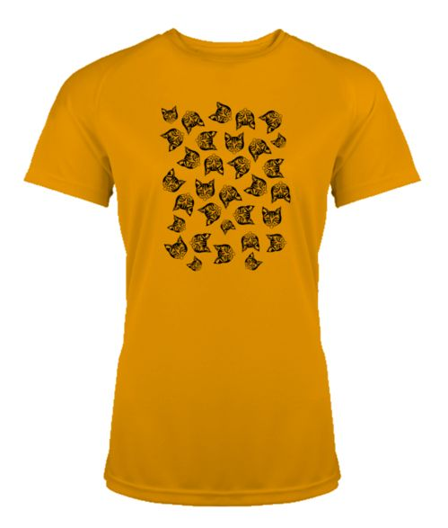 Mollycat Muddle orange T-shirt @printmotor  (black print) #mollycatfinland #cats #catprint #cat #tees #tshirtlife #printmotor #mollycat #kissa #katt #orange #clothing #apparel #fashion #finnishdesign