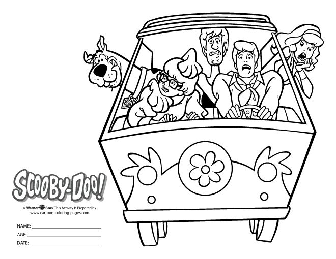 35 best halloween party ideas for kids images on pinterest for Scooby doo coloring pages halloween