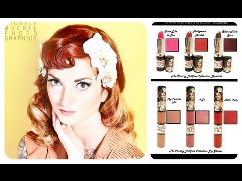 Bomber Betty Vintage Makeup Tutorial Part 1: My Favorite Me by CHERRY DOLLFACE - YouTube