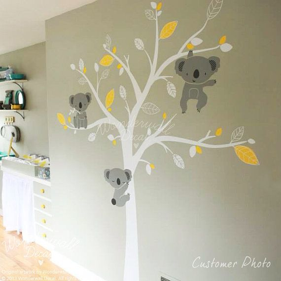 Hey, I found this really awesome Etsy listing at https://www.etsy.com/listing/208579740/baby-wall-decal-animal-koala-bear-tree