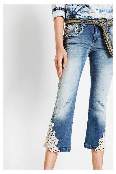 Blue jeans gamba larga - Luce lavare 3 |  Desigual.com D