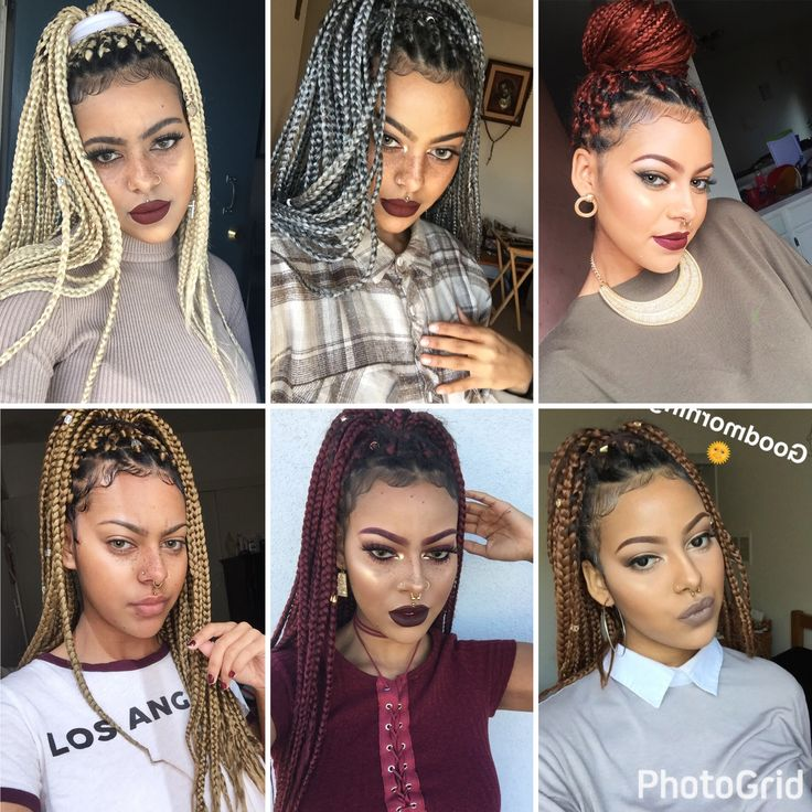 The 25+ best Colored box braids ideas on Pinterest - Hairstyles For Box Braids