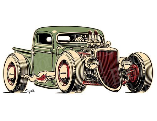 hot rod truck drawings - Google Search