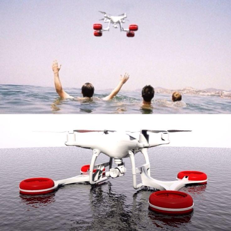 Float 3D printable for DJI drone Phantom 4