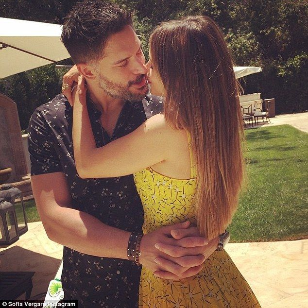 Marking the date: Sofia Vergara posted this cute snap on Sunday celebrating her first year with her hunky fiancé, gushing, 'Happy 1st Anniversary love of my life!!! Never been so happy!!#lucky @joemanganiello