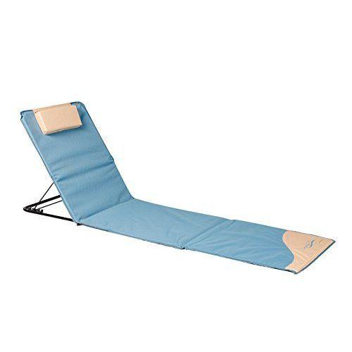 Meerweh Sonnenliege Strandmatte L Mit Lehne Grün 200 X 60 Cm 74036