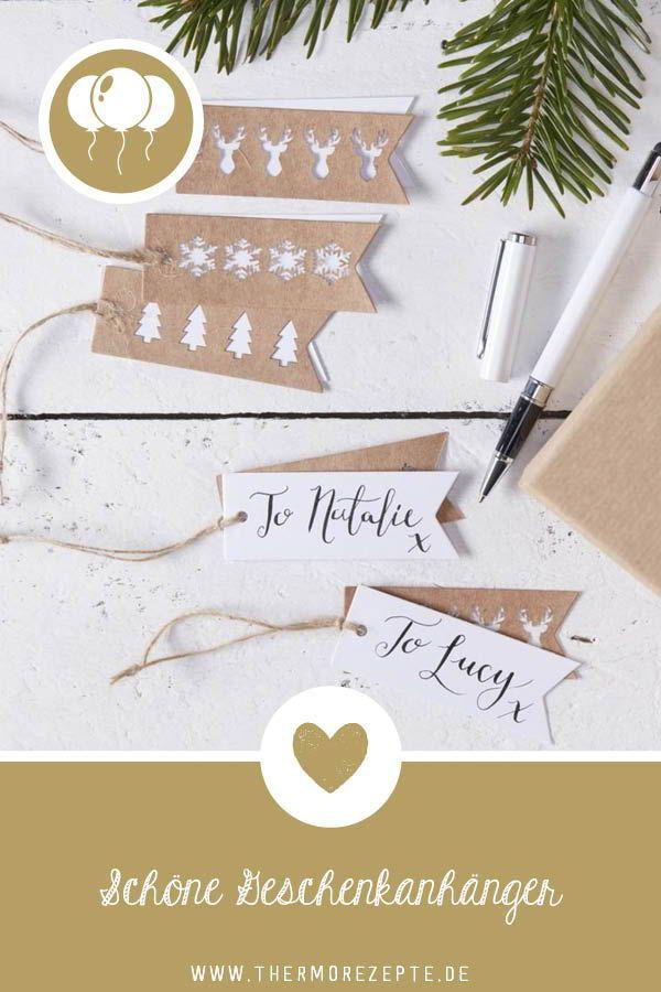 Festliche Geschenkanhänger mit gestanzten Motiven | DIY Weihnachten ...