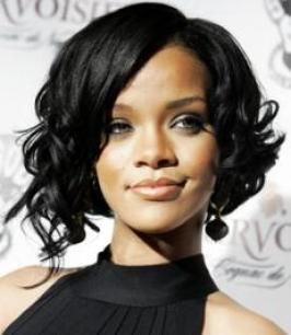 Curly asymmetrical bob. Love.