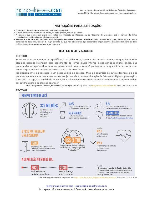 Acesse Nosso Site Para Mais Conteudo De Redacao Linguagens Para O