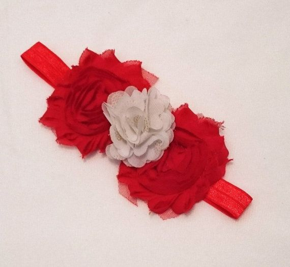 Check out this item in my Etsy shop https://www.etsy.com/au/listing/467788149/red-and-white-girls-flower-headband-foe