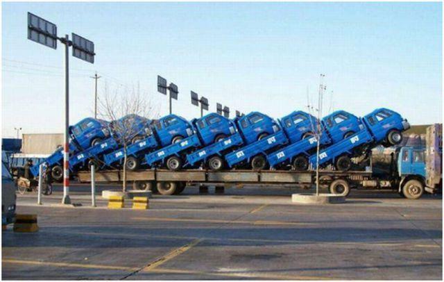 Lang transport av lastebiler