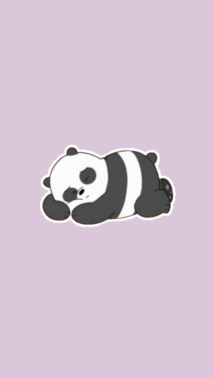 Aesthetic Purple Panda Wallpaper For Phone Cute Wallpaper Panda Wallpapers Cute Wallpapers We Bare Bears Wallpapers