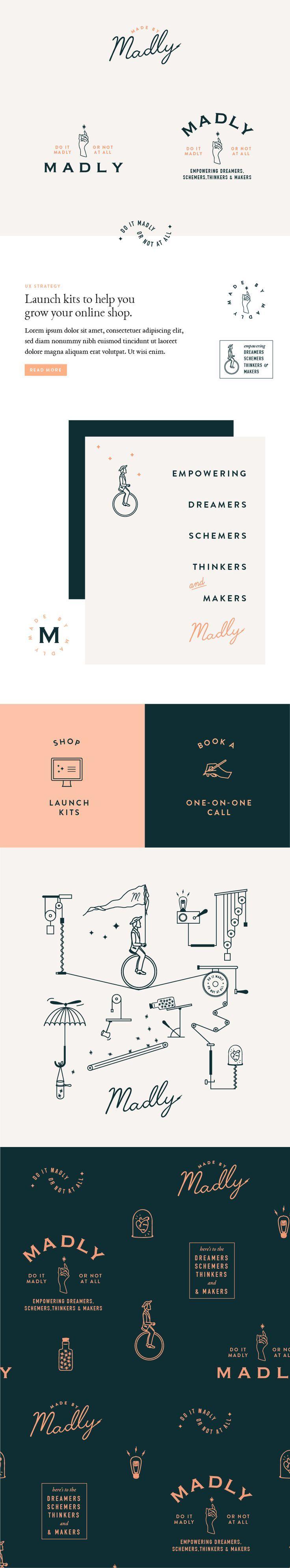 Madly Branding by Little Trailer Studio / graphic design inspiration / logo design