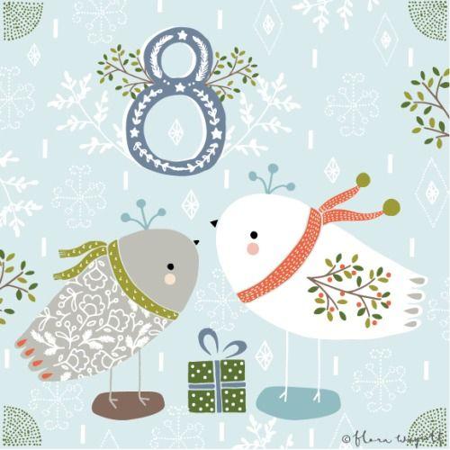 Flora Waycott Christmas Advent 2014 DAY 8 - Decorative birdies xxx