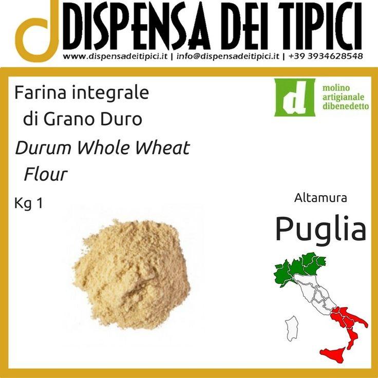 Farina Integrale di Grano Duro Kg 1 - Molino Artigianale Dibenedetto [IT] Durum Whole Wheat Flour Kg 1 - Molino Artigianale Dibenedetto [EN]  >http://dispensadeitipici.it/it/farina-integrale-di-grano-duro-kg-1-molino-artigianale-dibenedetto-225.html  Farina integrale di grano duro, ideale per fare il Pane, la Focaccia, la Pizza, i Dolci. [IT] Durum whole wheat semolina, ideal for making Bread, Focaccia, Pizza, Sweetnesses and Cakes. [EN] #farina #integrale #whole #wheat #flour #durum…