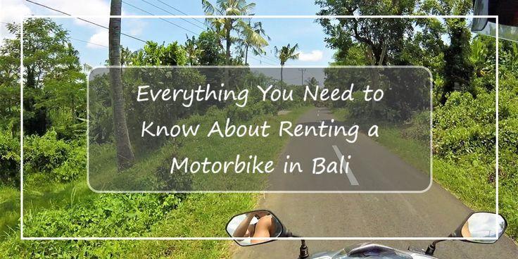 Renting a Motorbike in Bali