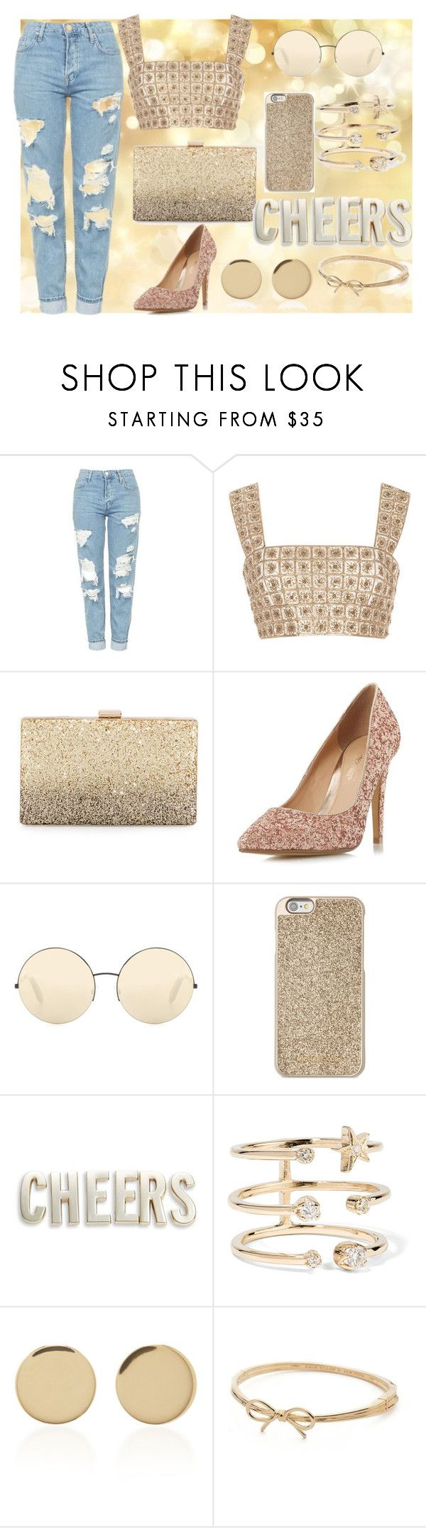 """sunshine like a Gold"" by megi-queen ❤ liked on Polyvore featuring Topshop, Oscar de la Renta, Neiman Marcus, Head Over Heels by Dune, Victoria Beckham, Michael Kors, Kate Spade, Andrea Fohrman and Magdalena Frackowiak"