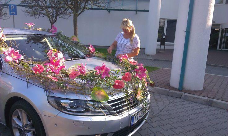 Svadobné auto výzdoba