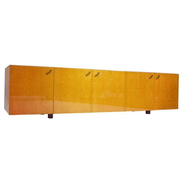 Saporiti 'Bird's Eye' Maple Sideboard by Giovanni Offredi, Italy, 1950s | From a unique collection of antique and modern sideboards at https://www.1stdibs.com/furniture/storage-case-pieces/sideboards/