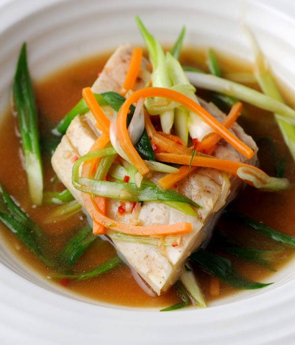 The delicate flavour of sea bass is carried by a simple fish sauce and five spice seasoning in this delightful sea bass fillet with Chinese spice recipe from Shaun Hill.